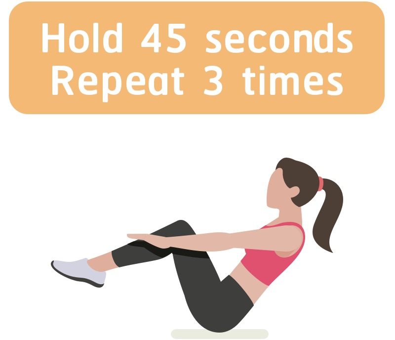 Woman doing core exercise