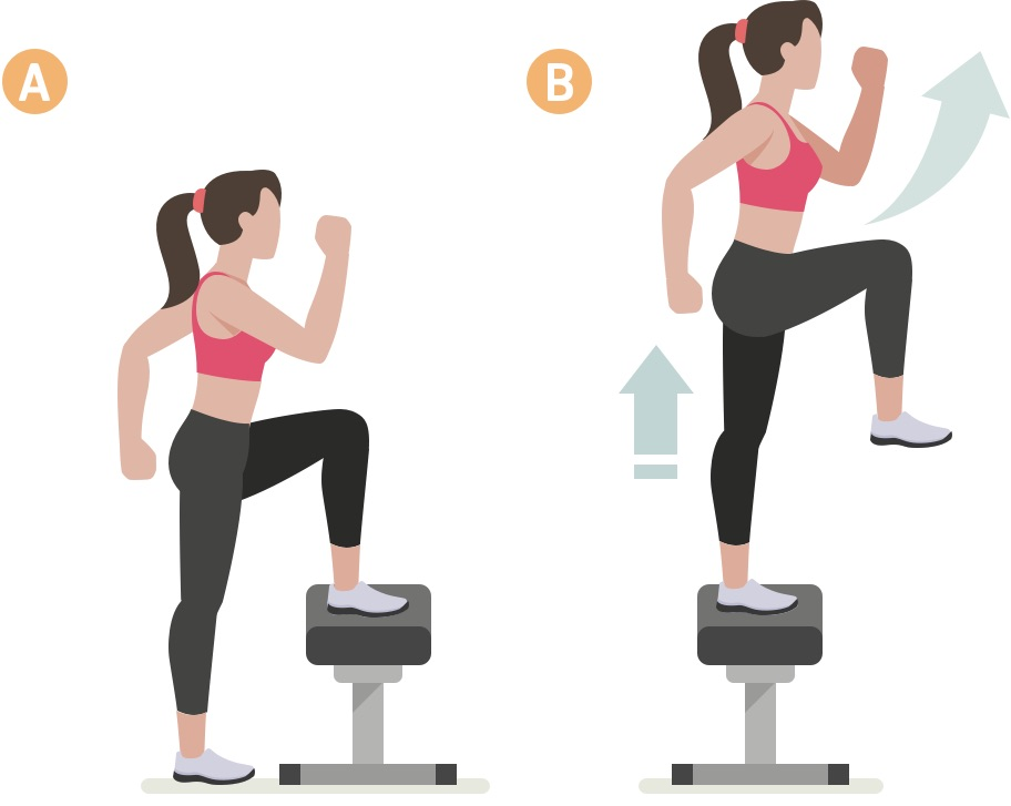 Woman doing lower body exercise