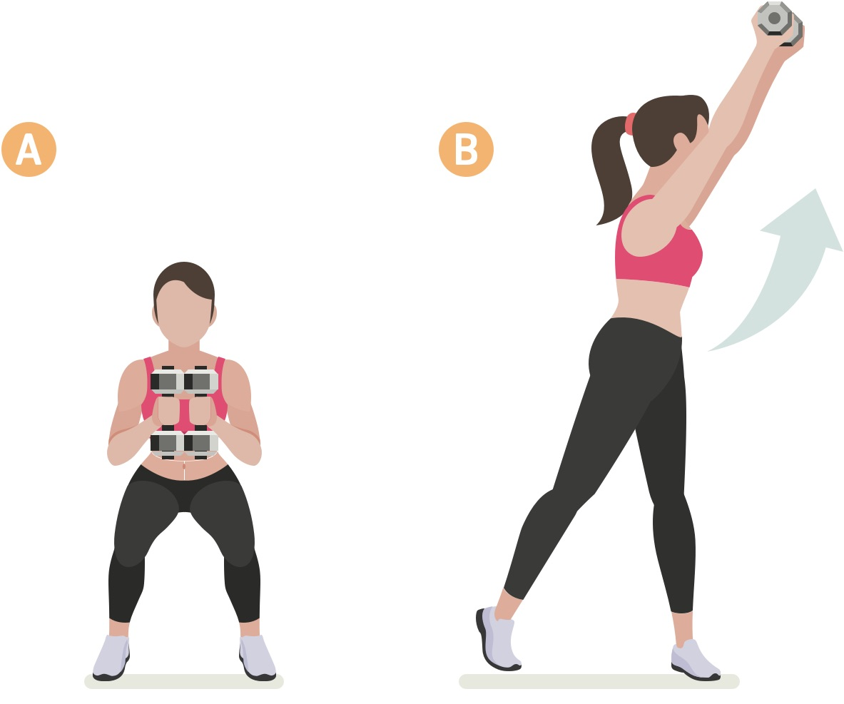 Strength training woman whole body workout #3 Exercises for Cycling