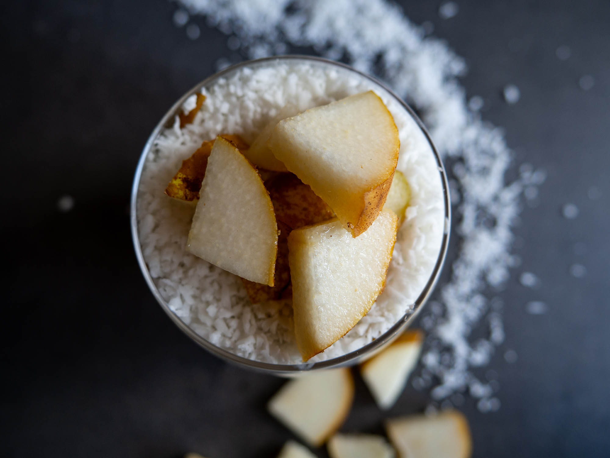 Chia pudding with pear