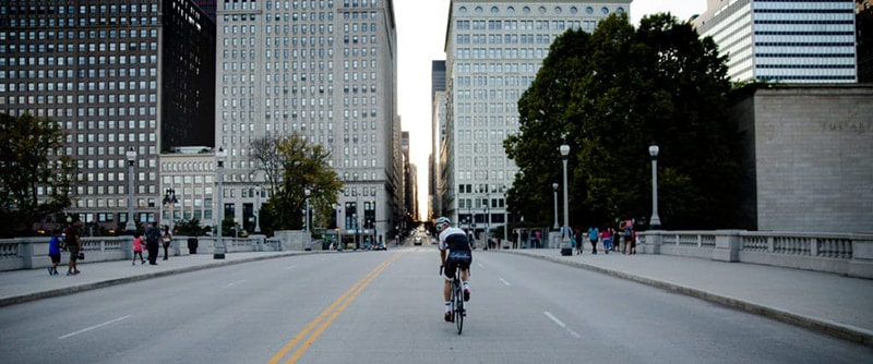 Cyclists in Chicago