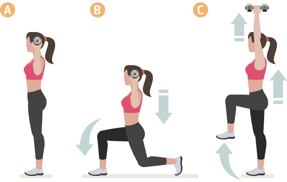 One-leg squat with weights