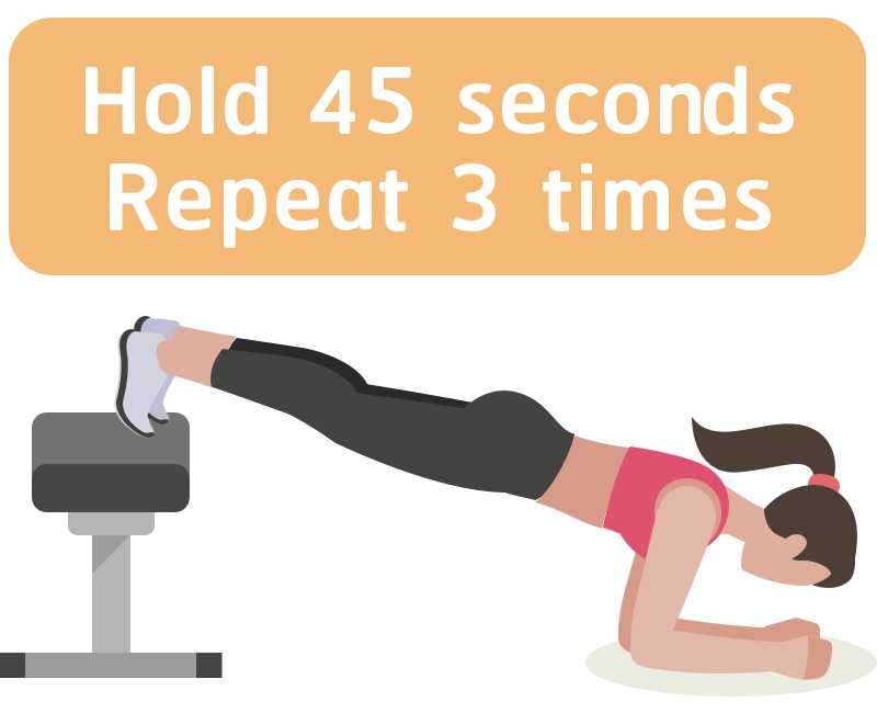 Plank with legs up