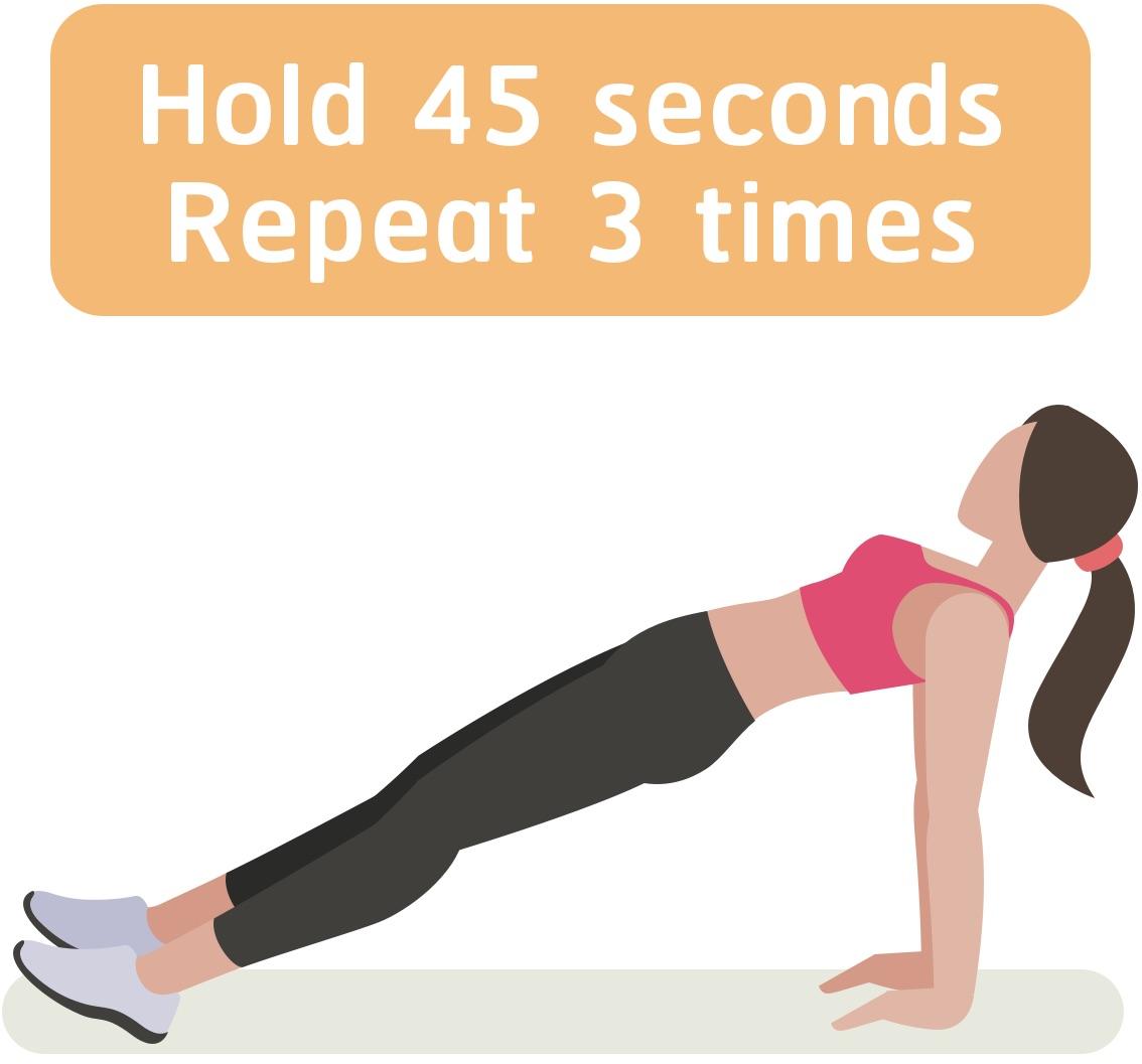 Inverse plank workout