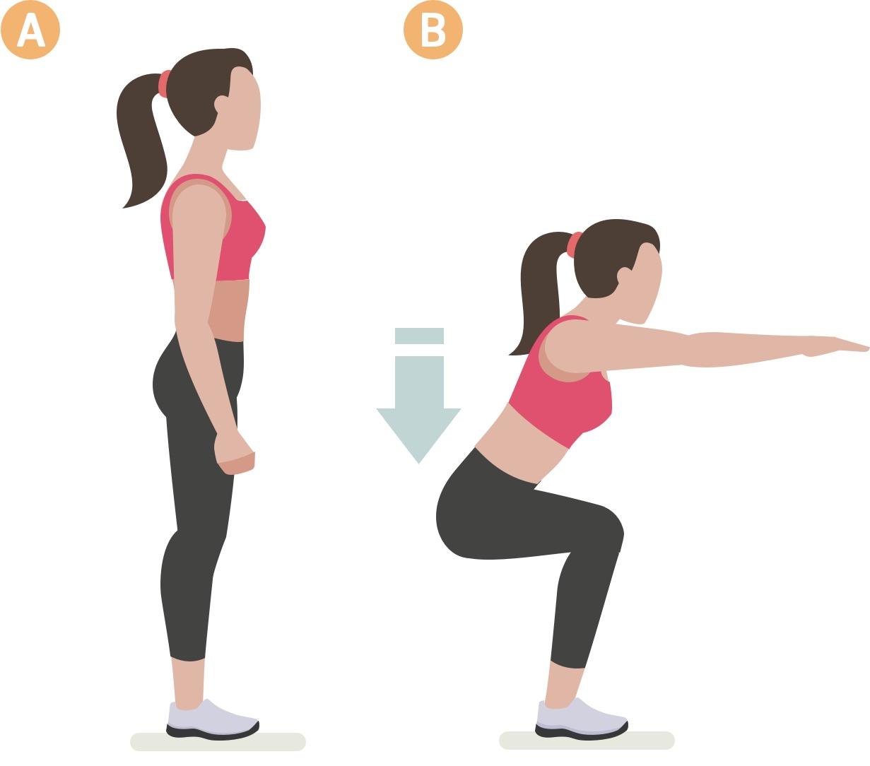 Woman doing squat