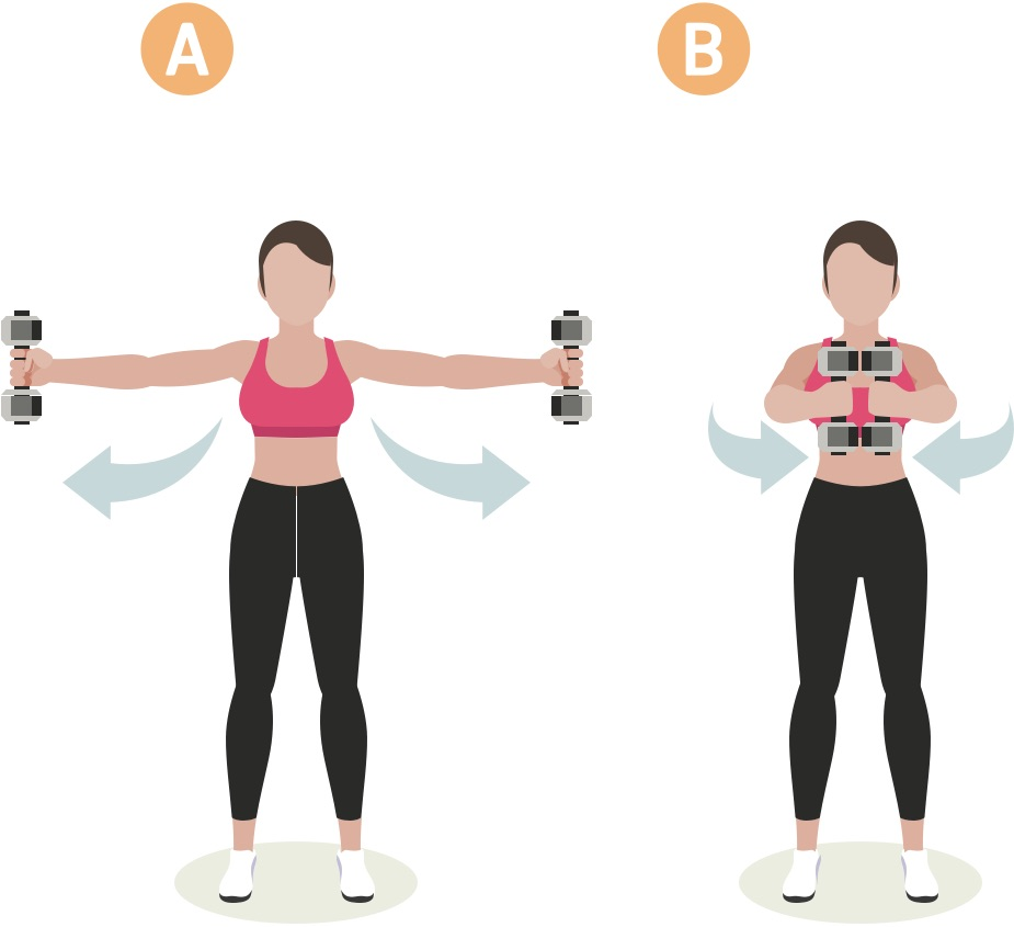 Strength training woman upper body workout #3