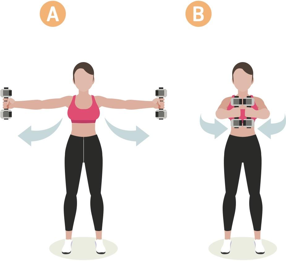 Strength training woman upper body workout #3
