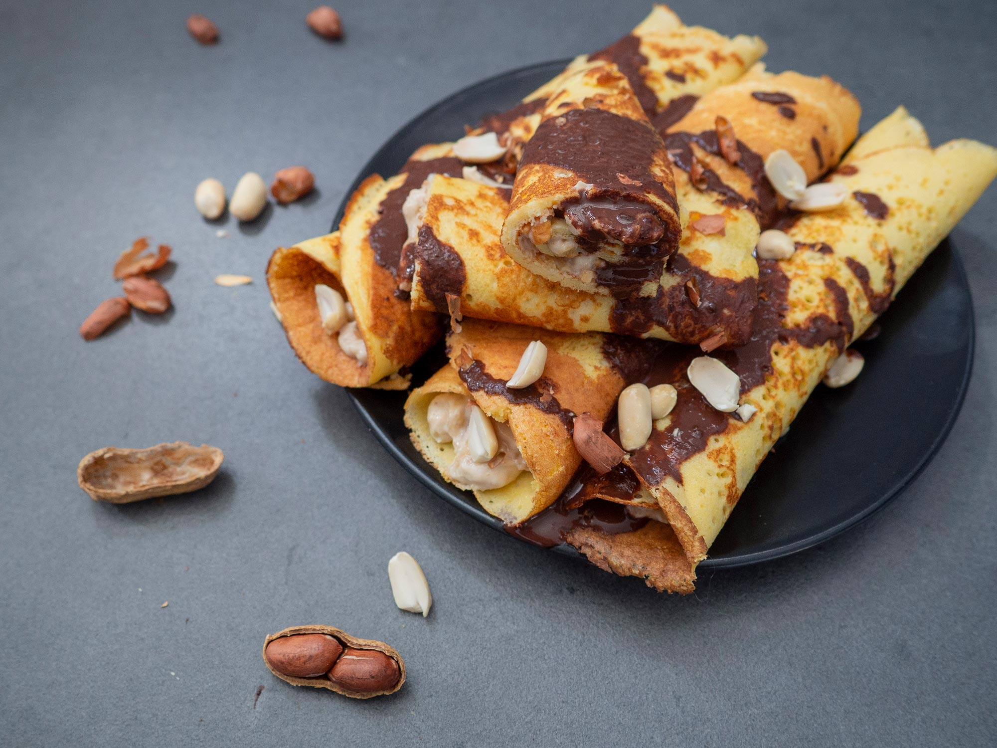 Snickers Pancakes ready to eat
