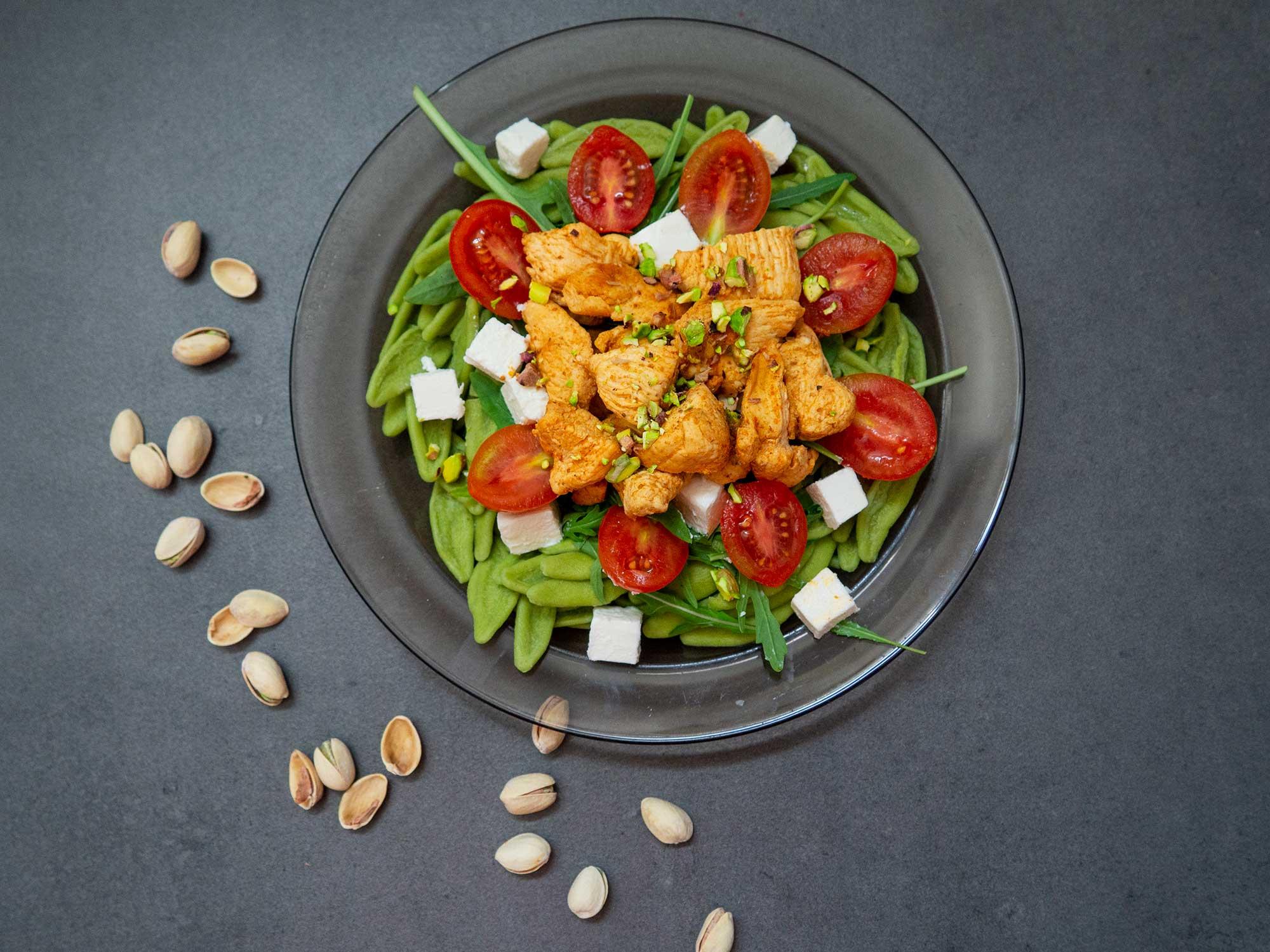 Dinner #1 – Spinach Pasta with Chicken