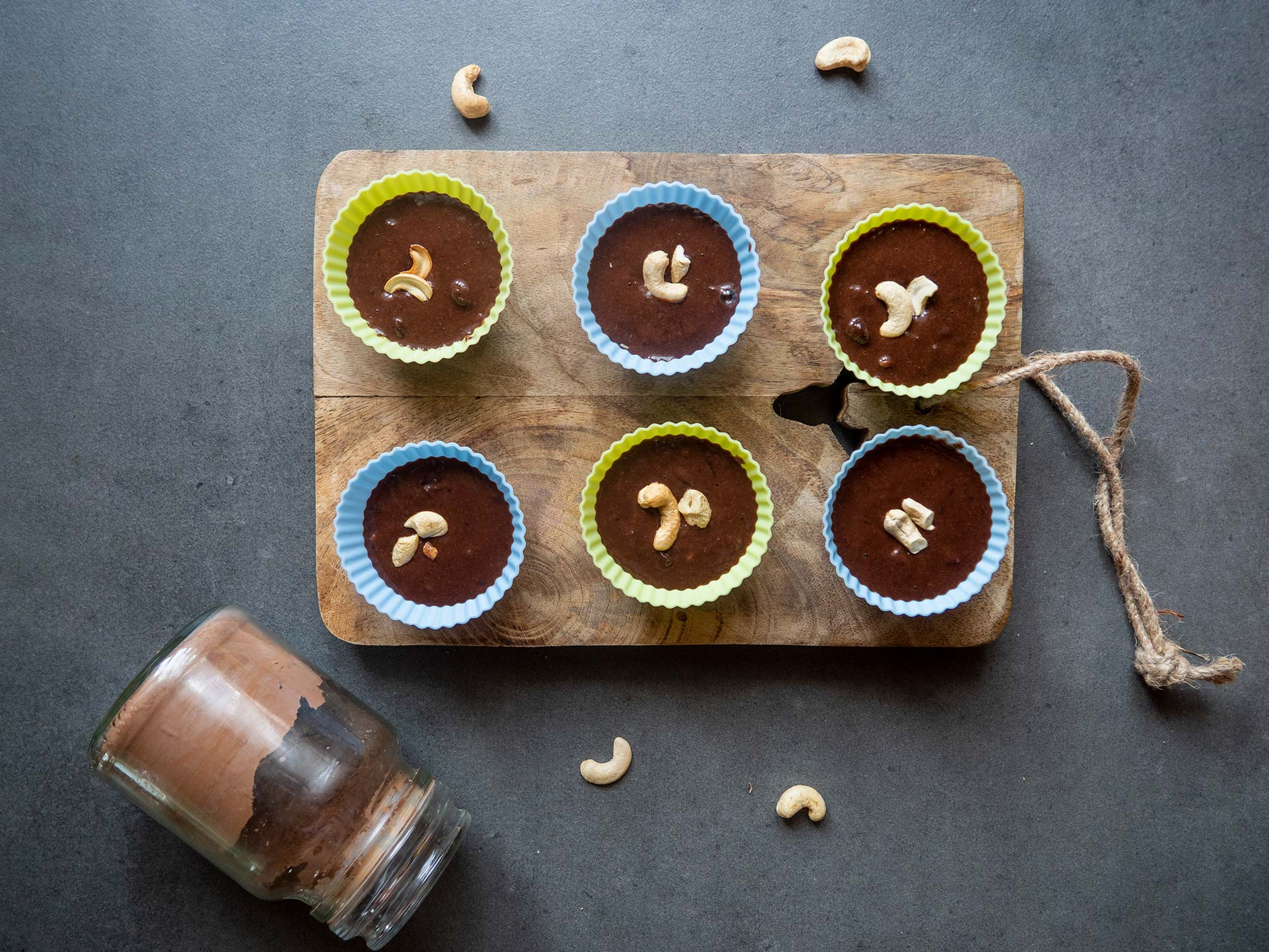 Brownie Muffins with Cashew Nuts