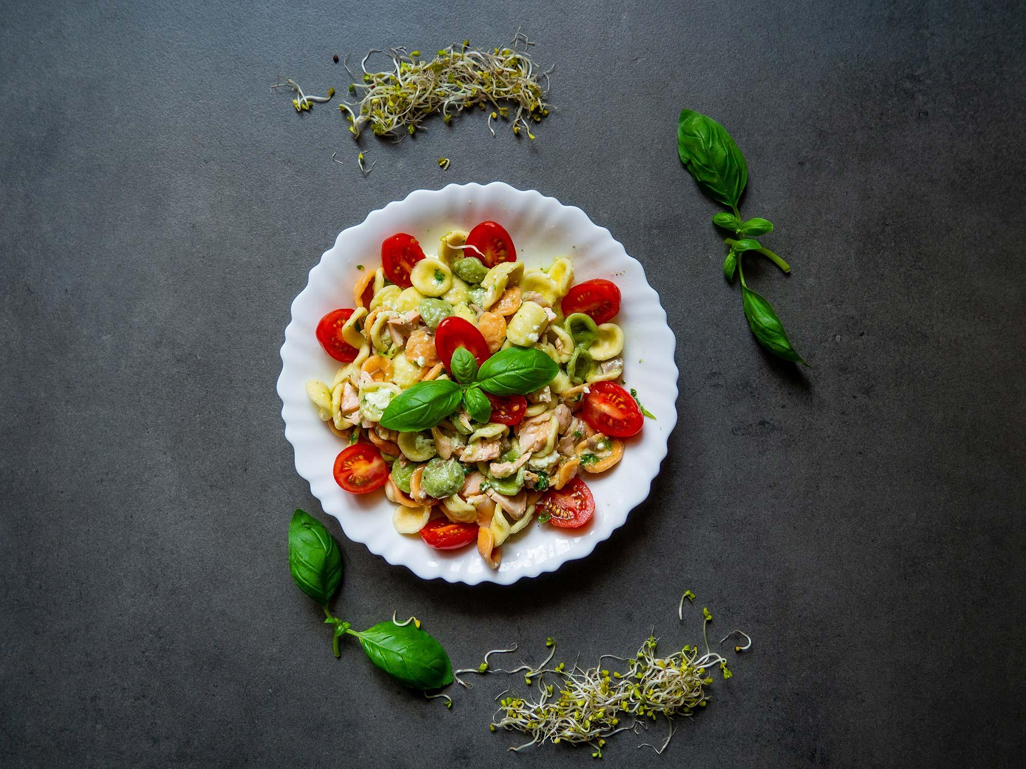Pesto with basil pesto ready to eat