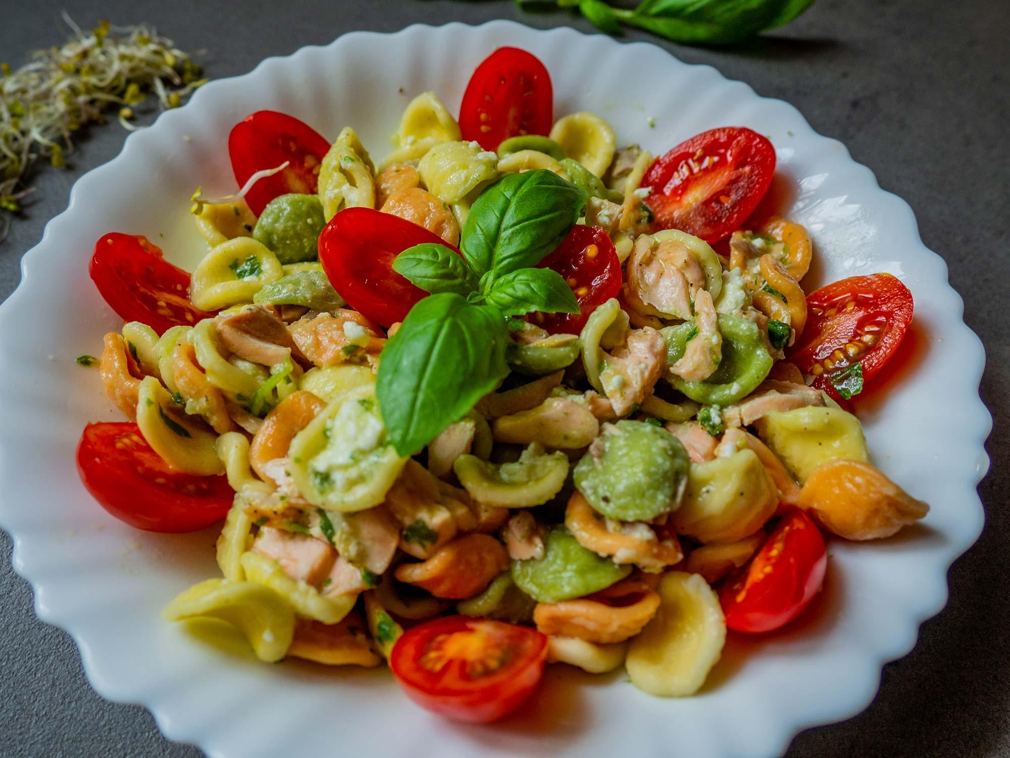 Pesto with basil pesto