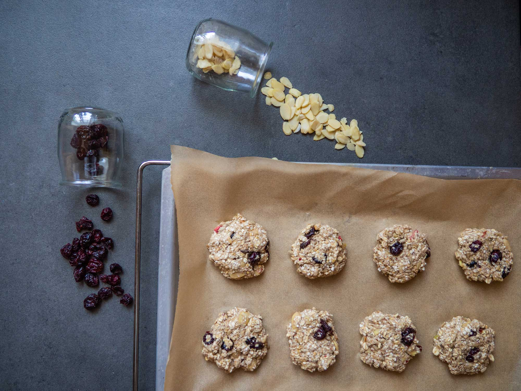 Cranberry Oat Cookies ready to eat