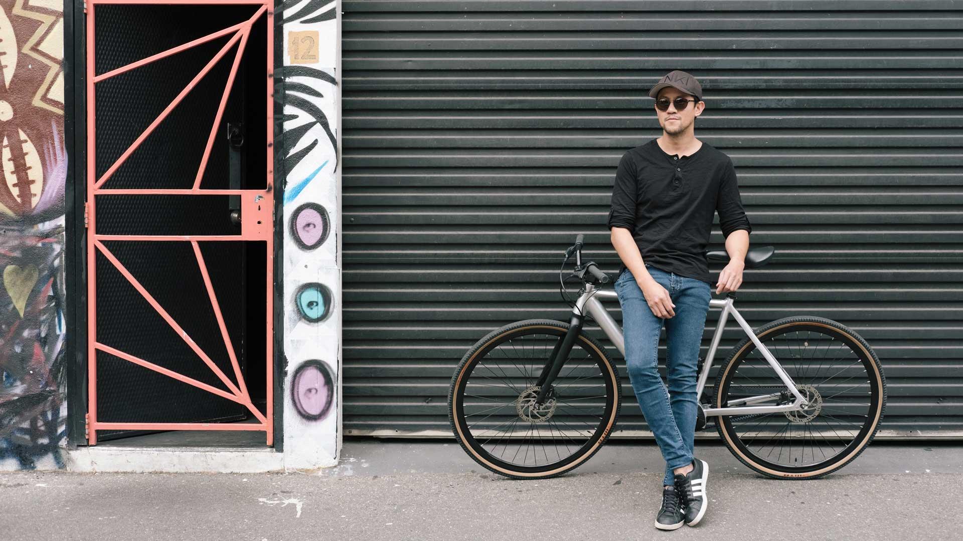 man on miller electric bike