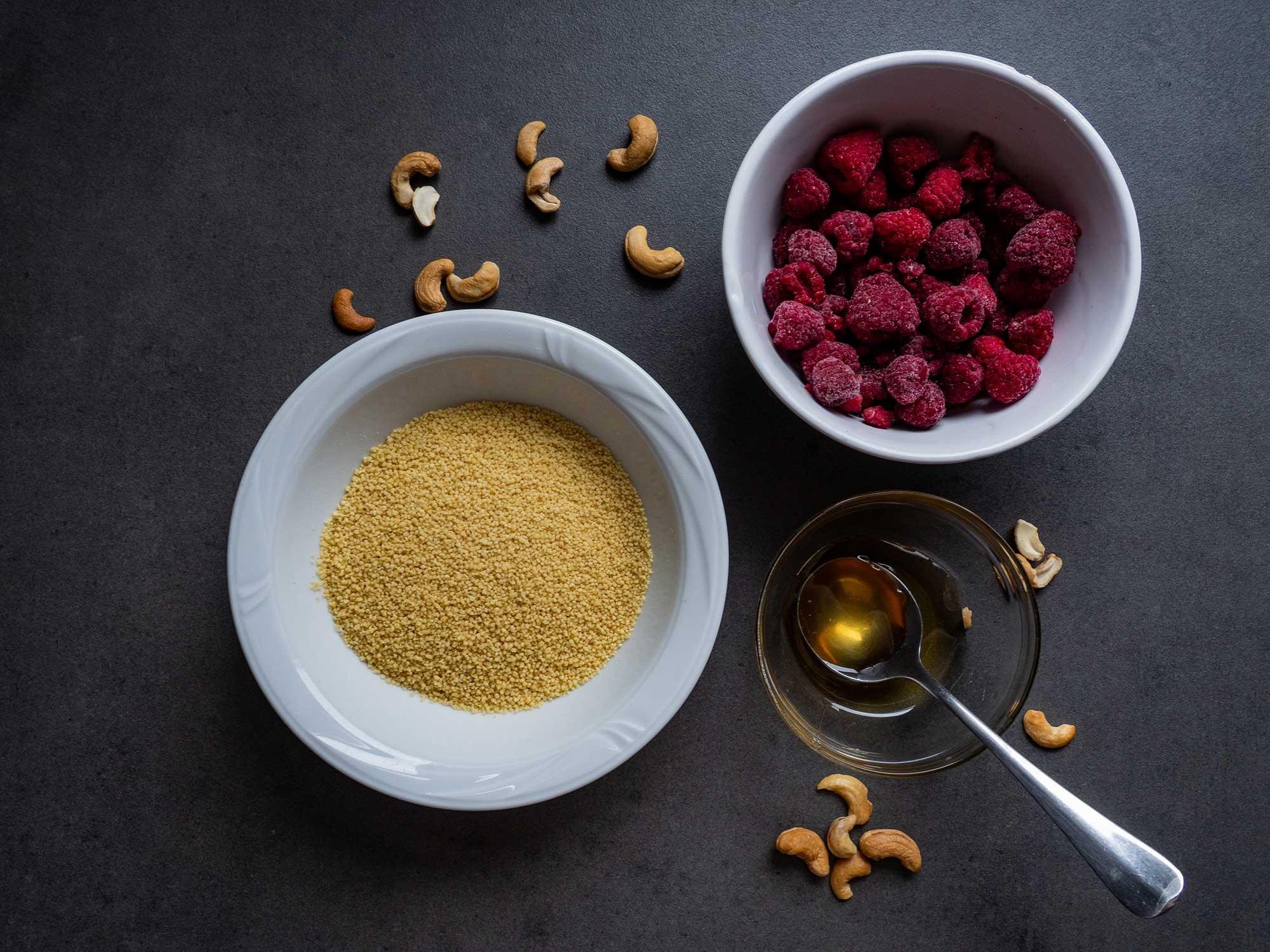 Raspberry couscous
