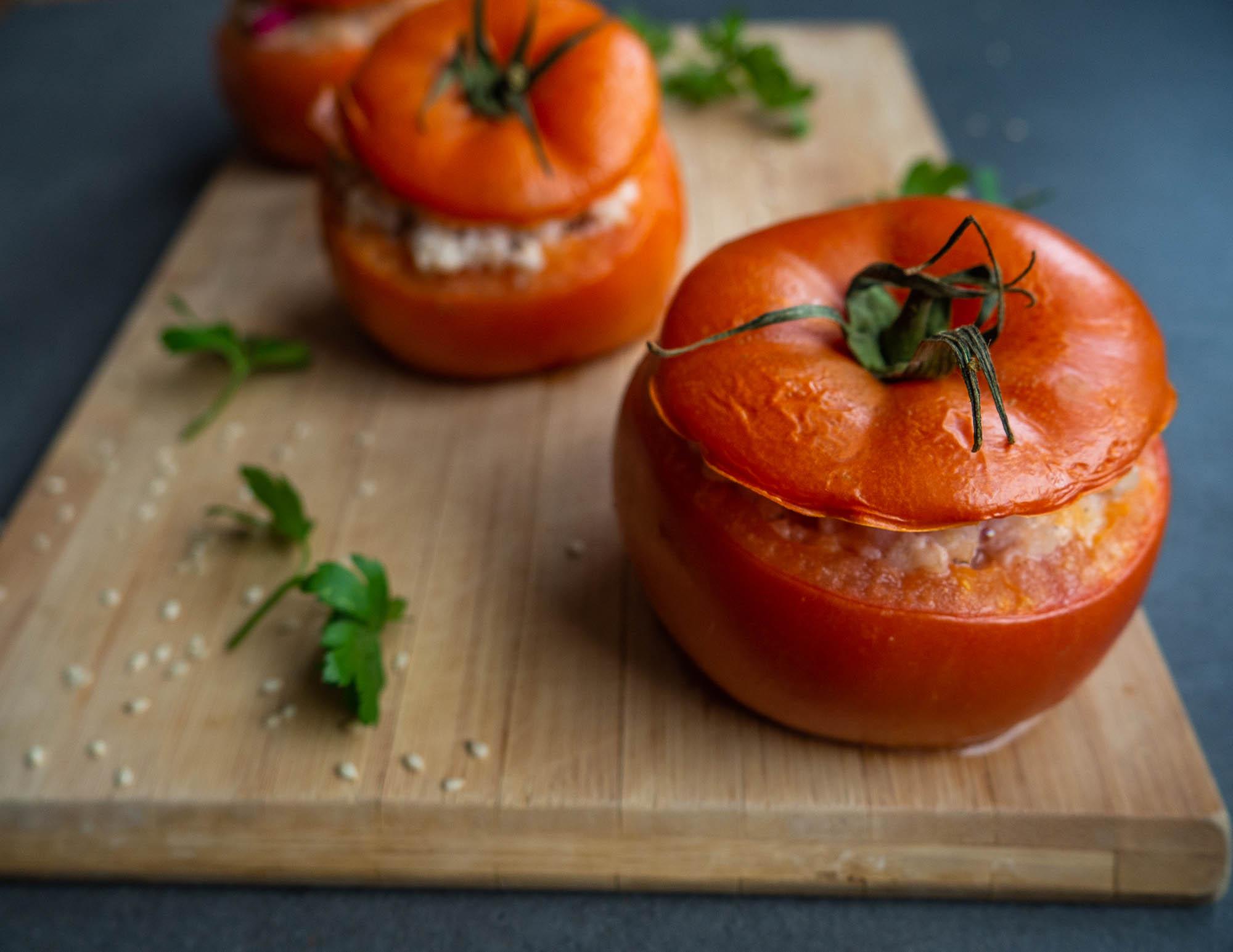 Stuffed Tomatoes With Barley Groats