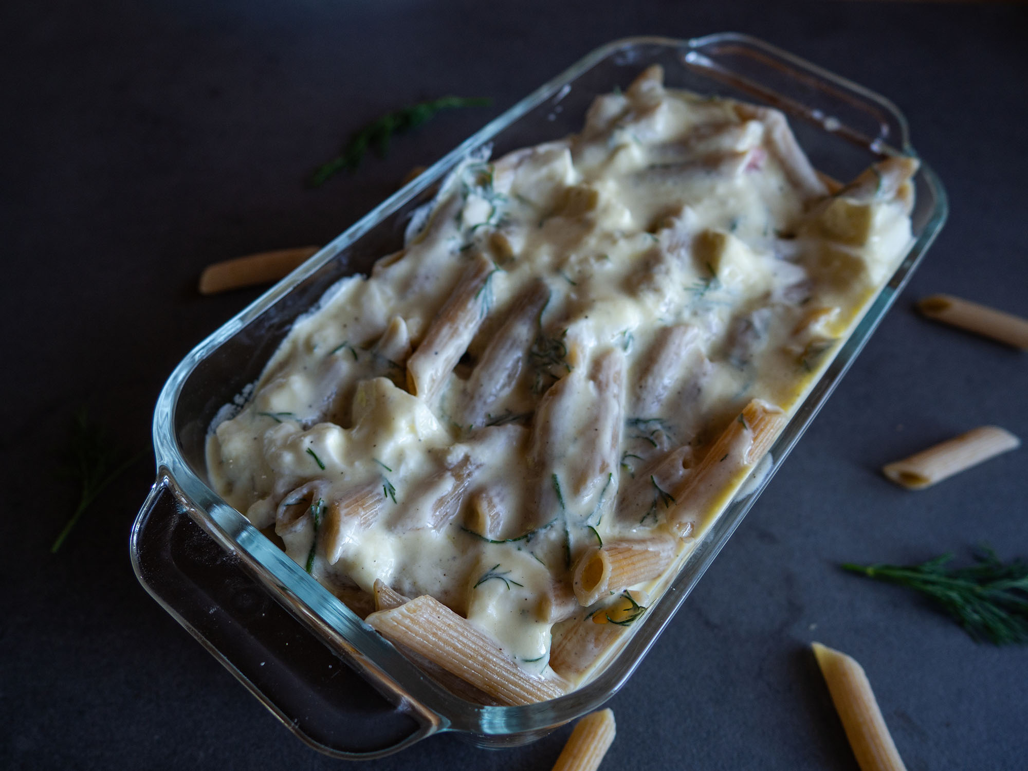 Cheese Bake with Salmon