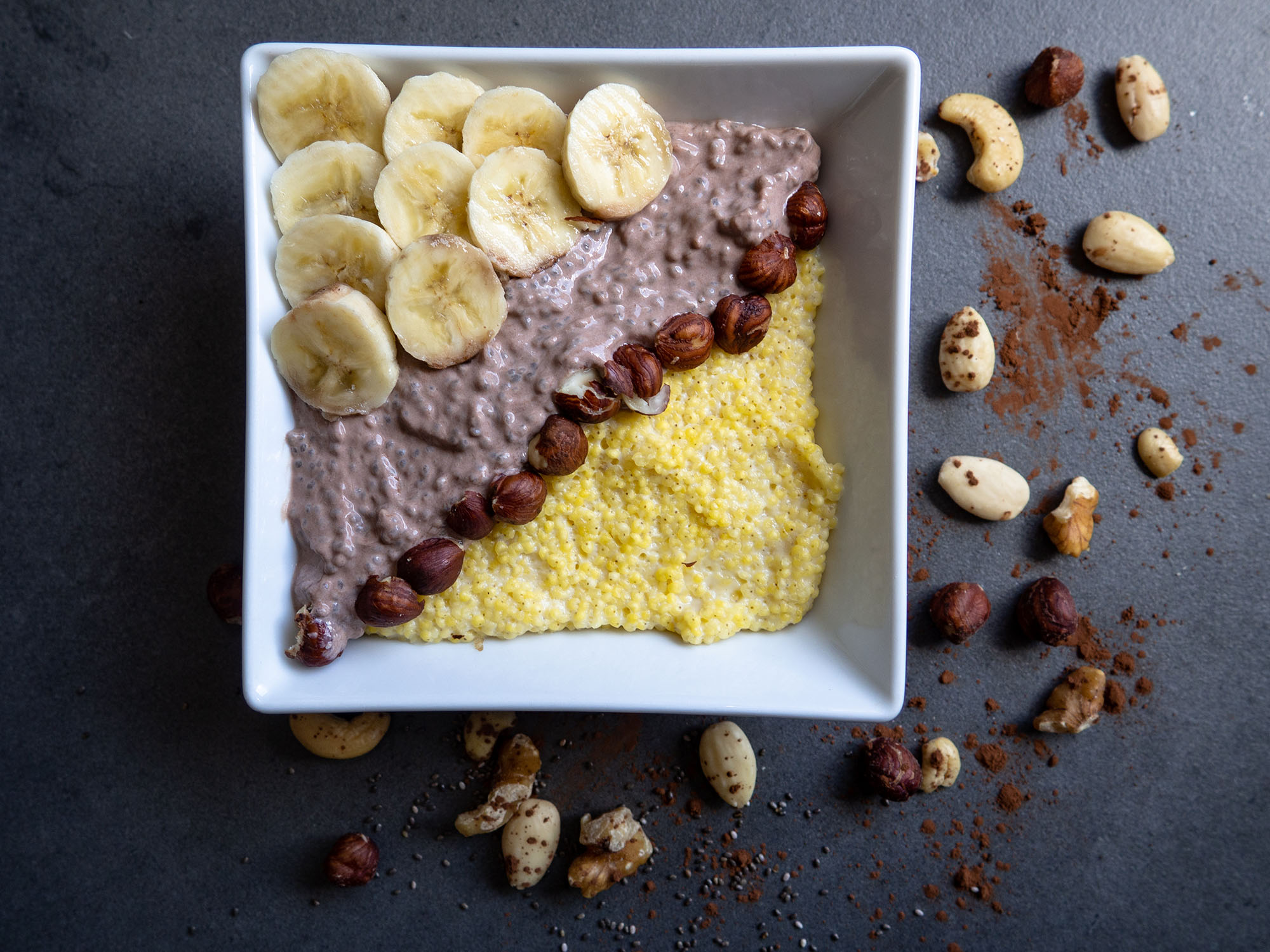 Millet Pudding with Cocoa and Chia