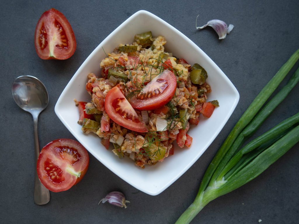 Lentil Salad With Tuna and Tomatoes